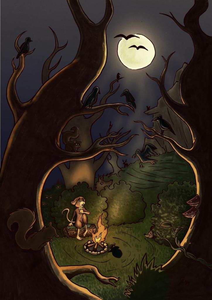 kinderboeken portfolio afbeelding van een bange muis in het bos