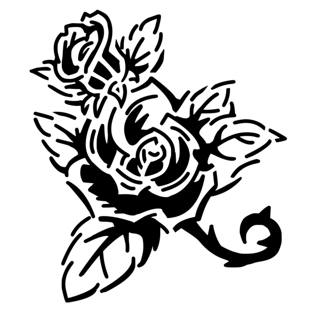vector image of a rose